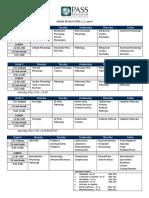 January 2010 Schedule-PASS PROGRAM