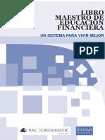 Libro Maestro de Educacion Financiera Un Sistema Para Vivir Mejor