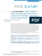 High-resolution Hydrometeorological Data From a Network of Headwater
