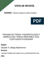 CONTUSION PULMONAR REVISTA DE REVISTA.pptx