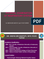 Rev Widya Physical Examination of Respiratory System