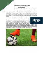Fundamentos Teoricos Del Futbol