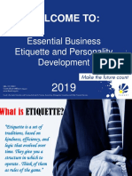 Business Etiquette and Personality Development