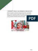 Trabajo de Pension de Orfandad de Hijo Invalido de La Ley Nº 20530