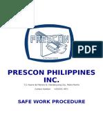 Safe Work Procedure Rev 02