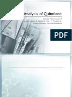 Analysis of Quinolone