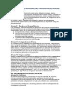 Código de Ética Profesional Del Contador Público Peruano Cuestionario