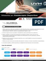 GP Maestria en Fisioterapia Deportiva Plan de Estudios