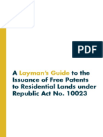 A Layman's Guide to the Issuance of Free Patents to Residential Lands Under RA 10023