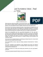 Cerita Rakyat Sumatera Utara