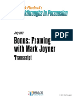 Framing With Mark Joyner Transcript