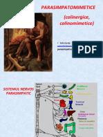 Curs 4 -Parasimpatomimetice