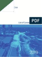 TSC List of Correspondents 2019 - SHIPPING 2