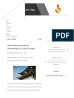 SeoulNational University Scholarships2019 (Fully Funded) - Scholarships for International Students 2019