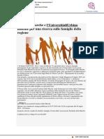 Il Forum Marche e l'Università di Urbino insieme per una ricerca sulle famiglie - Vivere Marche.it, 3 luglio 2019