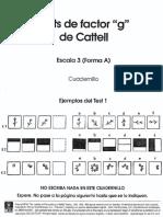 Cuadernillo Escala 3 Factor g