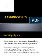 Learning Styles Report