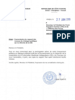 Le projet de loi portant recomposition de la Commission électorale indépendante (CEI).