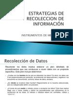 Estrategias de recolección de información