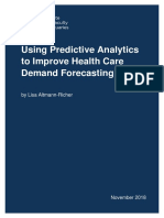 Using Predictive Analytics to Improve Health Care Demand Forecasting