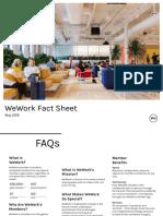 WeWork Fact Sheet