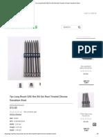 7pc Long Reach SAE Hex Bit Set Heat Treated Chrome Vanadium Steel