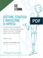 Gestione Strategia e Innovazione Di Impresa