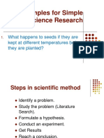 Example for a  Simple Science Research.ppt