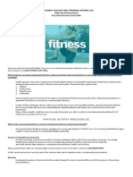 Physical Fitness Handouts