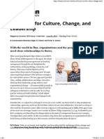A New Era for Culture, Change, And Leadership
