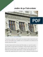 Povestea Statuilor de Pe Universitate