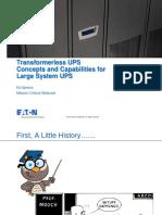 Webex Transformerless UPS EATON 072313