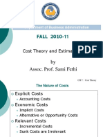 cost theory and estimate