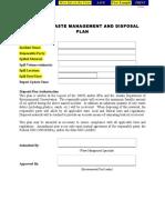Waste Management Disposal Plan