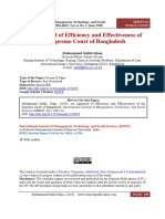An Appraisal of Efficiency and Effectiveness of the Supreme Court of Bangladesh