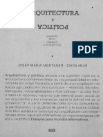 Arquitectura y Politica Metropolis Montaner Muxi