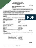 Subiecte Chimie anorganică BAC 2019