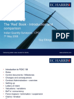 FIDIC RED BOOK  History and Comparison