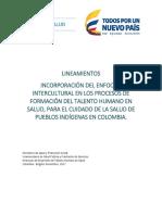 Lineamientos - Incorporación Enfoque Intercultural Formación Del THS - Pueblos Indígenas 02 11 2017 (1)