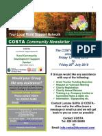 COSTA Newsletter - July 2019