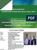 Kurikulum New 2013 Revisi 2016