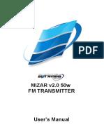 User's Manual Mizar v2.0 50w Fm Transmitter