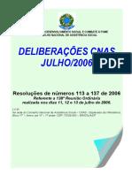 Resoluções 2006 - 113 a 137