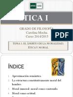 ÉTICA I.Tema 1. 2014 2015