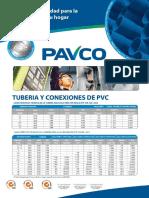 especificaiones tuberias pavco