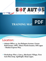 GOF Autos Training Manual