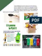 Reciclar, Cuidado Del Agua y La Basura