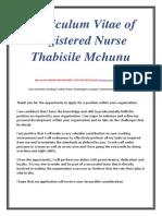 CV of RN Thabisile Mchunu.1