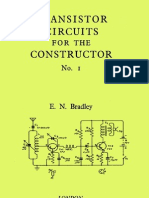 Transistor Circuits for the Constructor No-1 - E.N. Bradley