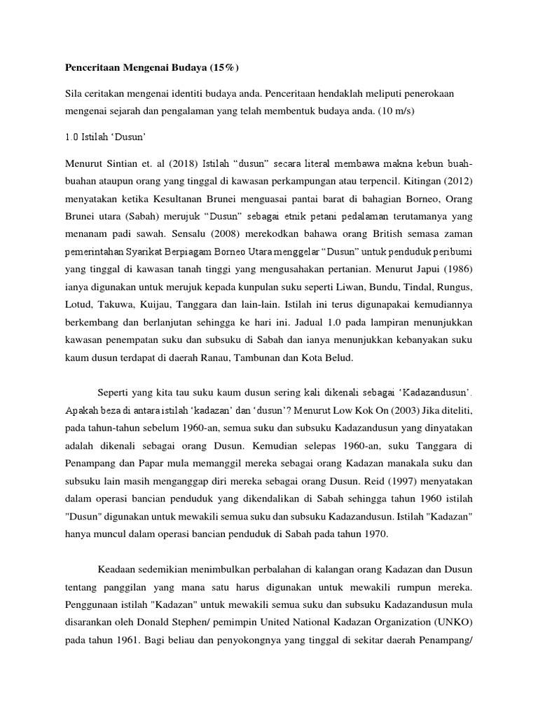 Asal Usul Kaum Dusun Di Sabah Docx